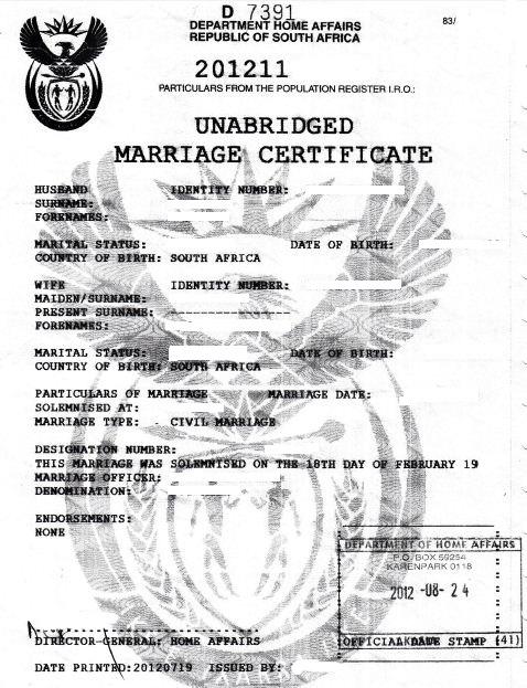 fastdocs - unabridged marriage certificate
